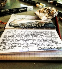 Writing and drawing go hand in hand for me more often than not.